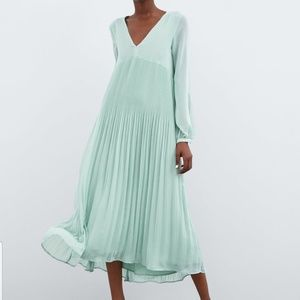 Zara Pleated Maxi Dress